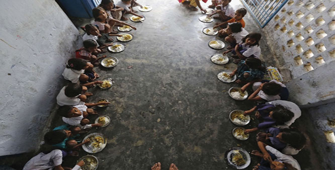 Playing with the health of children due to poor lunch in government schools